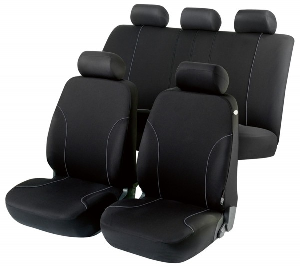 Autositzbezug Schonbezug, Komplett Set, Suzuki Splash, Schwarz
