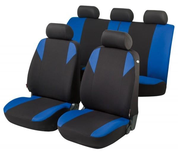 Autositzbezug Schonbezug, Komplett Set, Citroen C4 Picasso, Schwarz, Blau