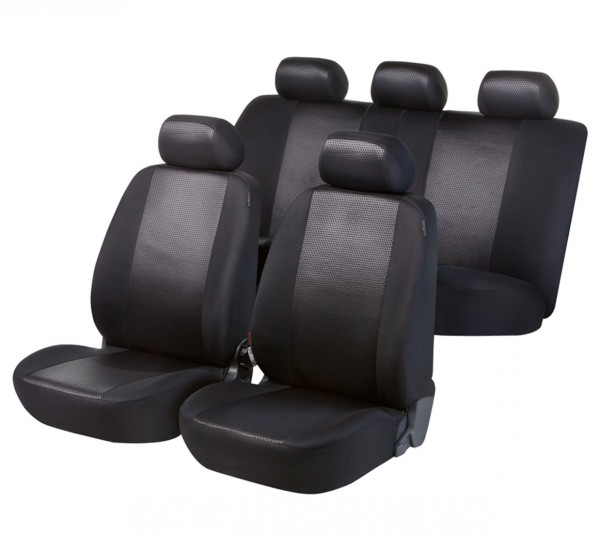 Autositzbezug Schonbezug, Komplett Set, Peugeot 106, Schwarz