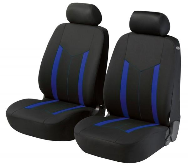 Autositzbezug Schonbezug, Vordersitzbezüge, Fiat 500, Schwarz, Blau