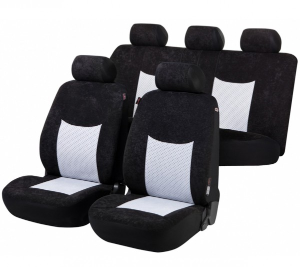 Autositzbezug Schonbezug, Komplett Set, Kia Venga, Schwarz, Grau