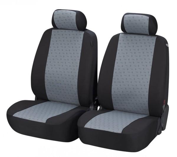 Autositzbezug Schonbezug, Vordersitzbezüge, Opel Astra-G-CC, Schwarz, Grau