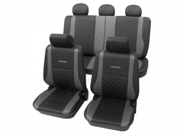 Sitzbezug Schonbezug Exclusiv Lederlook-Optik, Komplett-Set, Toyota Starlet, Anthrazit Schwarz Grau