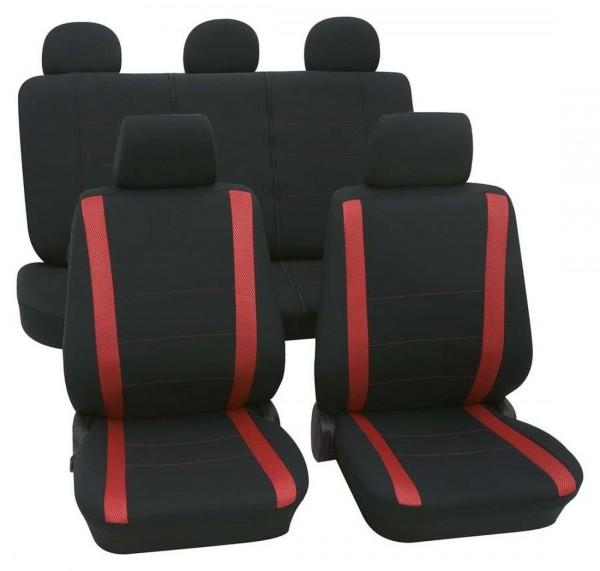 Autositzbezug Schonbezug, Komplett Set, Rover 214, Schwarz, Rot