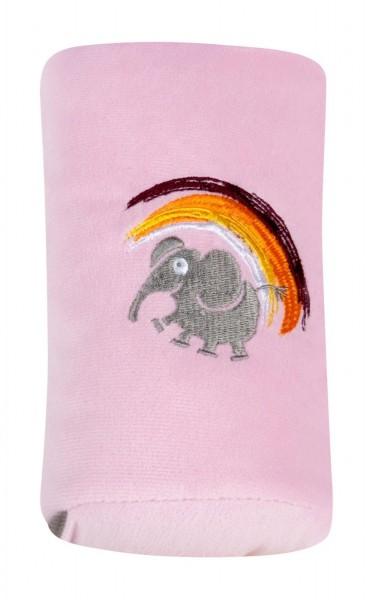 Autogurt-Schlafkissen für Kids, flauschig, 27 x 8 x 11 cm, rosa