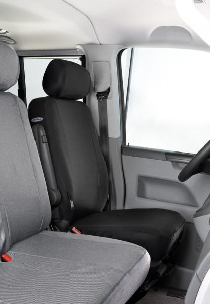 Transporter Autositzbezug, VW T4 Einzelsitz vorne, Jacquard Stoff, ab 10/1990, anthrazit