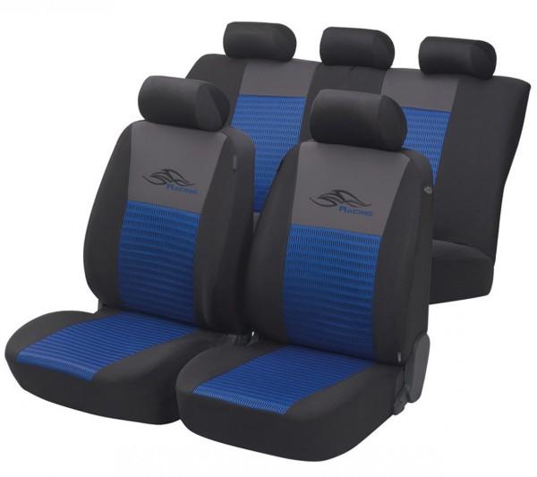 Autositzbezug Schonbezug, Komplett Set, Opel Astra-G-CC, Blau, Schwarz