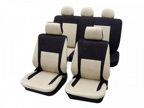 Autositzbezug Schonbezug, Komplett-Set, Alfa Romeo 33, Beige Creme Anthrazit