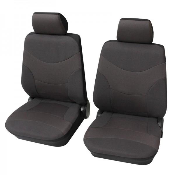 Autositzbezug Schonbezug, Vordersitzgarnitur, Peugeot 207 CC, Grau Anthrazit
