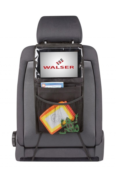 Rücksitztasche, universal, mit Tablethalter, einfache Montage, schwarz