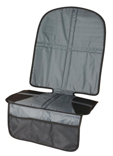 Kindersitzunterlage, strapazierfähig, praktisch, Rückenteil extra hoch, 1255 x 478 mm, schwarz, grau