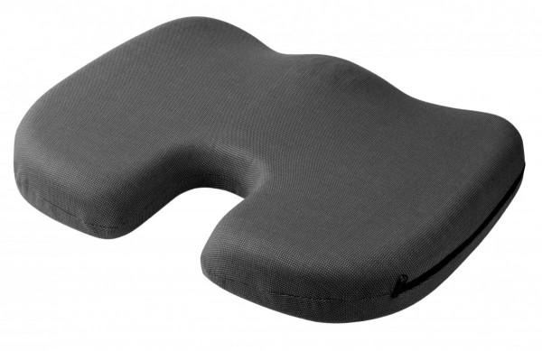 Sitzkissen orthopädisch, mit Kühlgel, 45 x 35 x 6 cm, schwarz