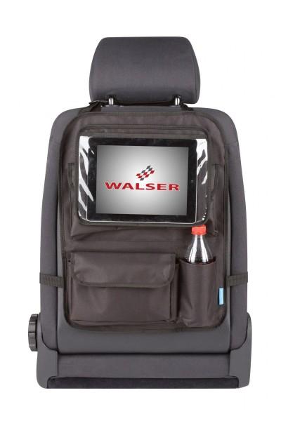 Rücksitztasche, universal, mit abnehmbarem Tablethalter, einfache Montage, schwarz